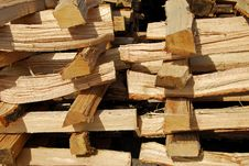Free Stacked Fire Wood Royalty Free Stock Images - 3453529
