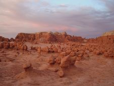 Goblin Valley - The Sunset Royalty Free Stock Photo
