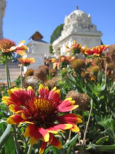 Free Flower On Hindu Temple Stock Photo - 3454140