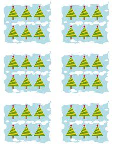 Free Christmas Tree Pattern Stock Photo - 3454490