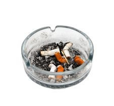 Free Cigarettes In An Ashtray Royalty Free Stock Photo - 3454795