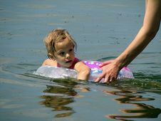 Free The Girl In The River Stock Images - 3454854
