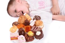 Free Boy Eating Sweets Royalty Free Stock Photo - 3455715