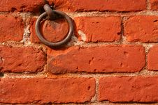 Free Brick Wall With Ring Royalty Free Stock Images - 3457129