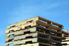 Free Stacked Pallets Royalty Free Stock Photos - 3457508