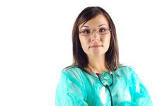 Free Female Doctor 14 Royalty Free Stock Image - 3458516
