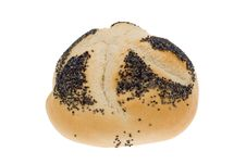 Free White Bread Bun With Seeds Stock Images - 3458964
