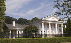 Free White Columns Iron Fence Royalty Free Stock Photos - 3459258