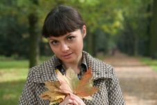 Free Autumn Woman 22 Royalty Free Stock Photos - 3459488