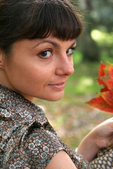 Free Autumn Woman 24 Stock Image - 3459511