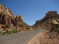 Long Canyon (Burr Trail) Royalty Free Stock Photo