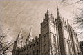 Free Salt Lake City Temple In Sepia Royalty Free Stock Photos - 34509648