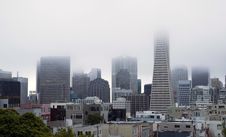 Free Fog Hangs Heavy Over Office Buildings Downtown San Francisco CA Stock Images - 34512684