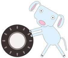Dog S Tire Royalty Free Stock Photography