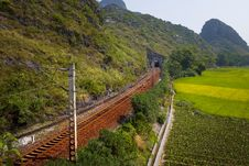 Free Railway In Mountain Royalty Free Stock Photography - 34516427