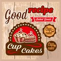Free Cup Cakes Labels Stock Photography - 34526672