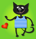 Free Cat And Heart Stock Photography - 34528012