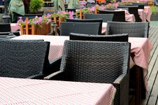 Free Restaurant Chairs And Tables Stock Image - 34520711