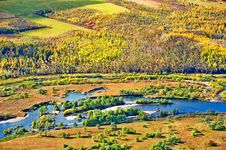 Free Overlook Ya Lu River Stock Photography - 34521522