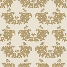 Free Seamless Background With Floral Pattern Royalty Free Stock Photography - 34521797