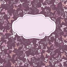 Free Seamless Pattern With Butterflies Royalty Free Stock Images - 34523199