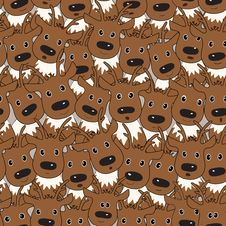 Free Vector Seamless Pattern With Deers Royalty Free Stock Photos - 34523238