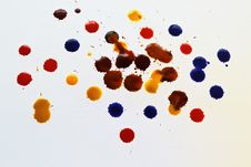 Free Colorful Blots On A White Background Stock Photos - 34526853