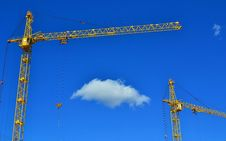 Free Cranes And Cloud Stock Image - 34527601