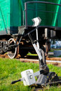 Free Old Railway Switch And Train Wagon Stock Photography - 34530822