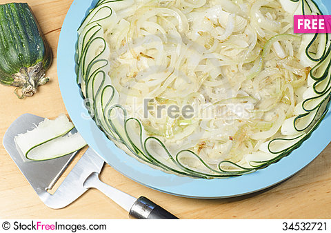 Free Process Of Cooking A Vegetable Pie. Stock Image - 34532721