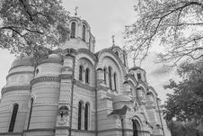 Free Saint Vladimir S Cathedral In BW Stock Photos - 34531113