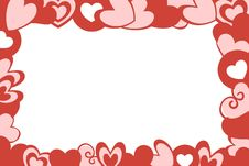 Free Valentine Hearts Frame White Background Royalty Free Stock Images - 34532549