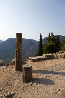 Free Greece. Delphi. Ancient Ruins Stock Photos - 34576253