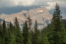 Free Dolomites Mountains, Stormy Stock Photo - 34579400