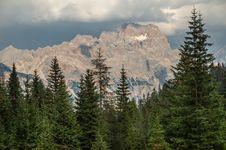 Dolomites Mountains, Stormy Stock Photo