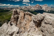 Dolomites Mountains, Formin Mountain, Italy Stock Images