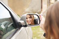 Free Rearview Mirror Royalty Free Stock Photo - 34581105