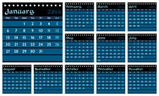 Free Calendar 2014 Royalty Free Stock Photos - 34585648