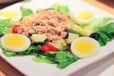 Free French Classic Nicoise Salad Stock Photos - 34587673