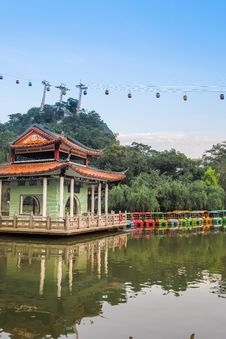 Free Lakeside Landscape In Chinese Garden Royalty Free Stock Photography - 34587987