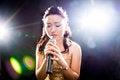 Free Singing Woman Of Asia Royalty Free Stock Photos - 34590848