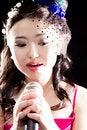 Free Singing Woman Of Asia Stock Photos - 34590883