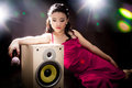 Free Singing Woman Of Asia Stock Photo - 34590910