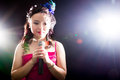 Free Singing Woman Of Asia Stock Image - 34590921