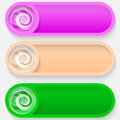 Free Set Colored Vector Abstract Button Stock Image - 34590981