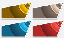 Set Colored Text Frames Stock Image