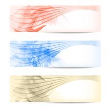 Set Abstract Colored Banner