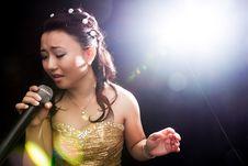 Free Singing Woman Of Asia Stock Photos - 34590893