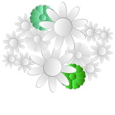 Free Gray Vector Flowers Background Stock Image - 34591311