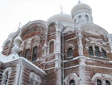 Free Russian Church Belogorsky Monastery Stock Photos - 34592213